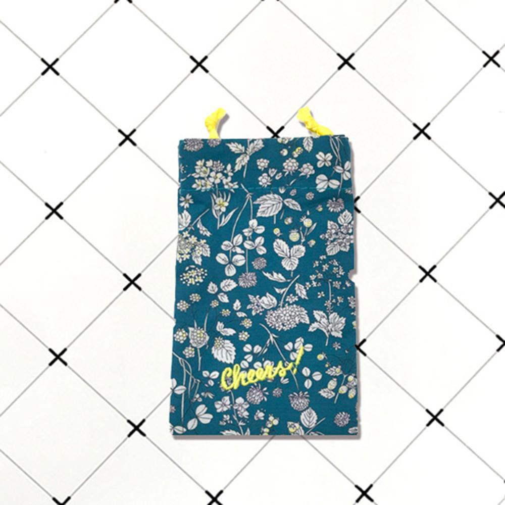 【凱娜】日式文青藍束口袋