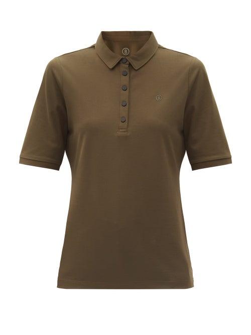 Bogner - Tammy Cotton-blend Piqué Golf Polo Shirt - Womens - Khaki