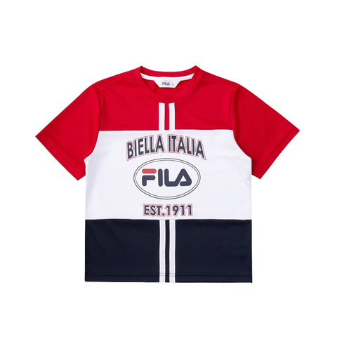 FILA KIDS 吸排上衣-紅色 1TEV-4427-RD
