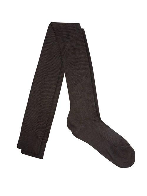 Raey - Over-the-knee Silk Socks - Womens - Black