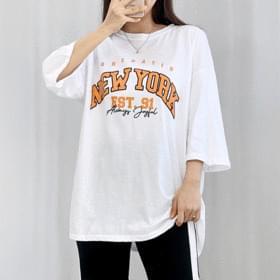韓國空運 - New York Lettering Short Sleeve Tee 短袖上衣