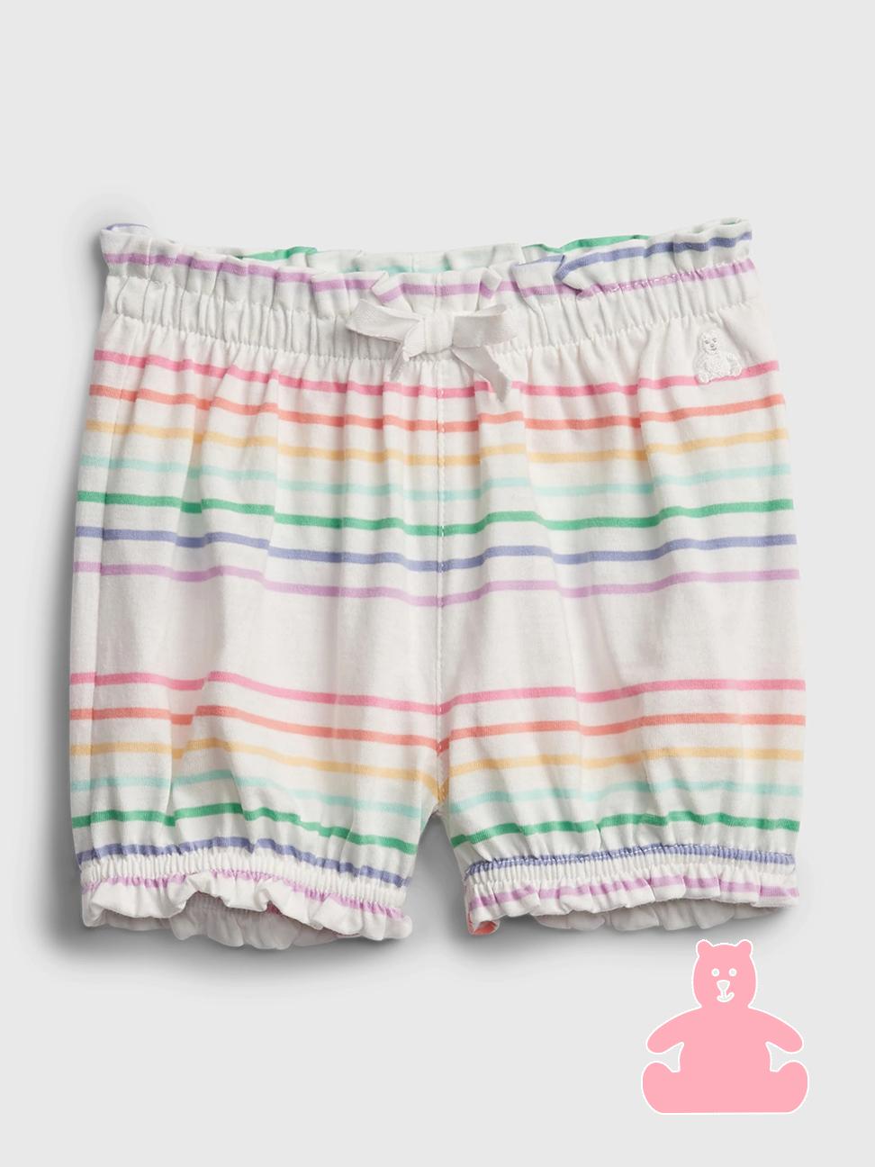 嬰兒 布萊納系列 甜美印花純棉鬆緊短褲