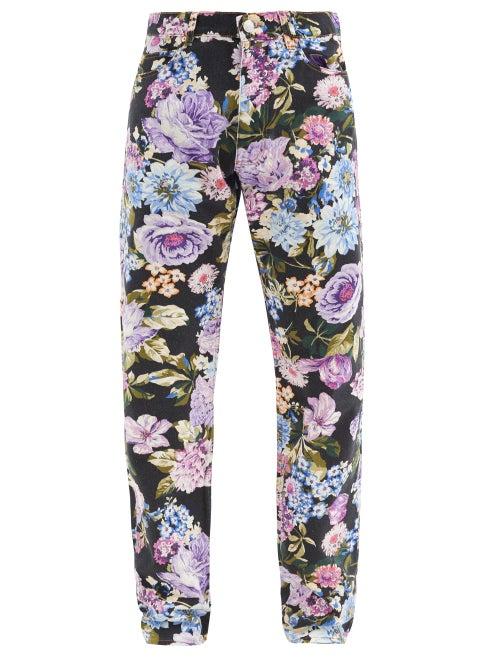 Martine Rose - Ronnie Floral-print Straight-leg Jeans - Mens - Multi