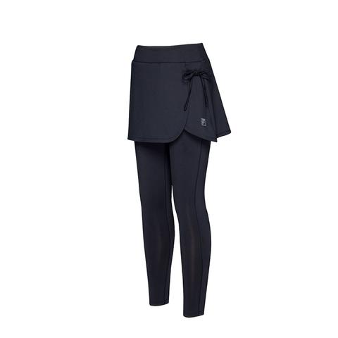 FILA 假兩件運動裙褲-黑色 5PNV-1606-BK