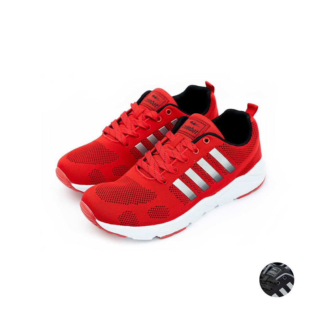COMBAT艾樂跑女鞋-輕量運動鞋 情侶鞋-紅/黑(22530)