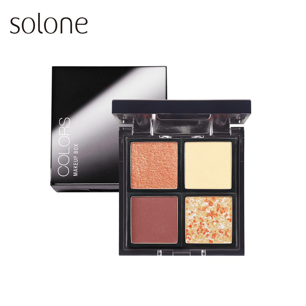【初▪心75折up】Solone 焦糖蜜拿鐵眼影 4色組