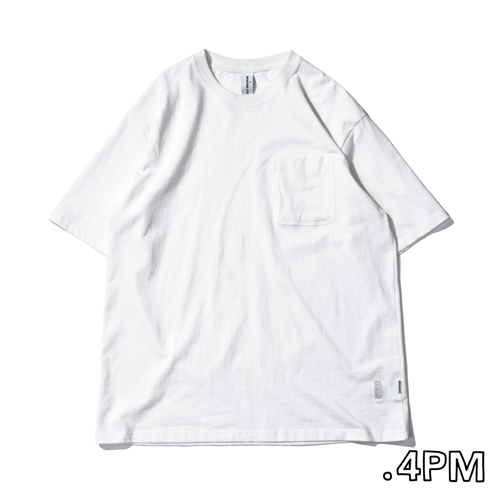 Centralpark.4pm Premium-C Pocket T-Shirt / warm white