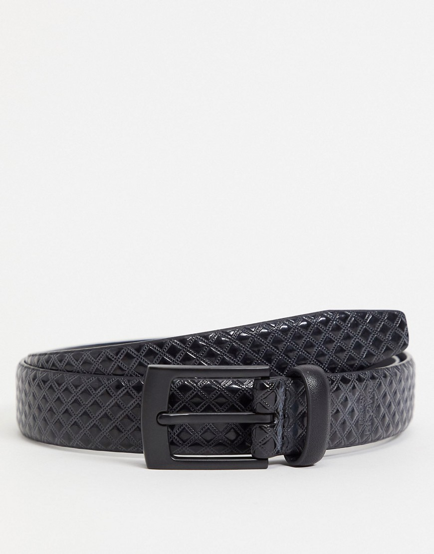 Harry Brown textured smart belt-Black