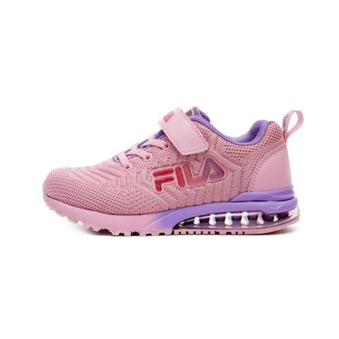 FILA KIDS 大童MD氣墊慢跑鞋-粉紫 3-J406V-555