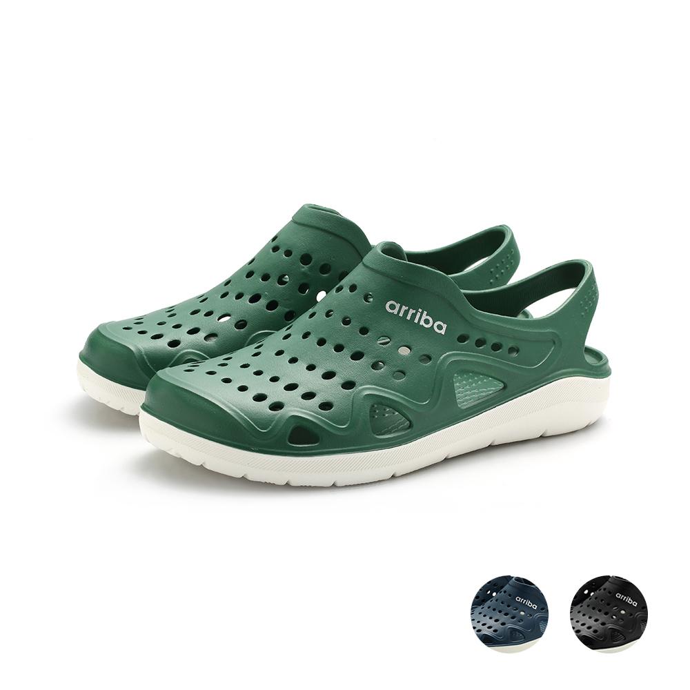 ARRIBA艾樂跑男鞋-雙色防水涼鞋-綠/藍/黑(61496)