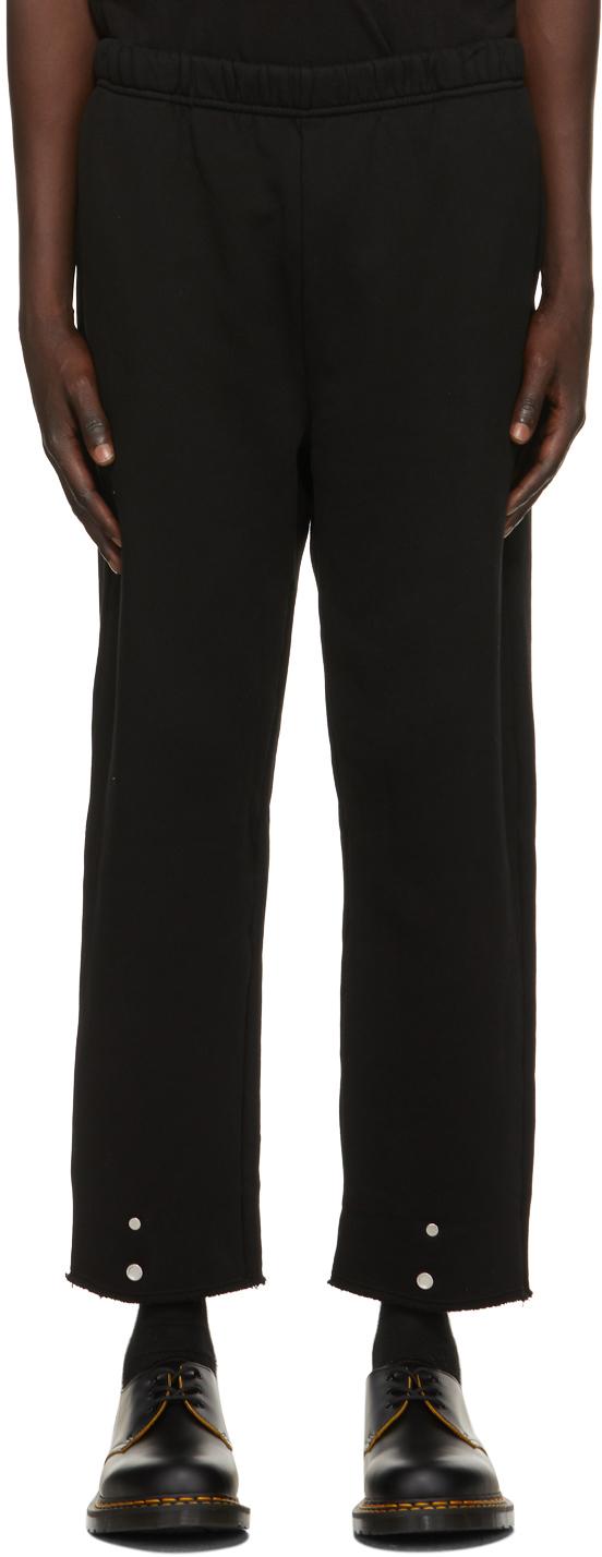 Les Tien 黑色 Snap Front 运动裤