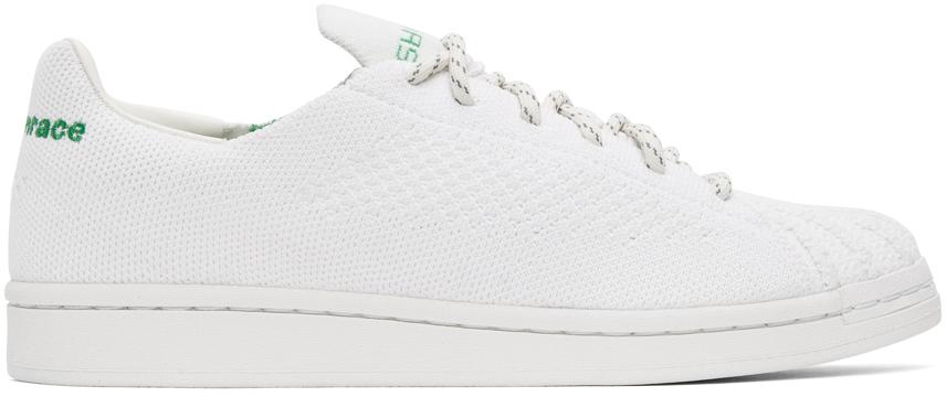 adidas Originals x Pharrell Williams 白色 Superstar Primeknit 运动鞋