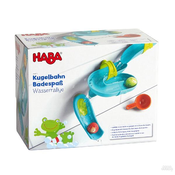【德國HABA】趣洗澡滾球滑水道(4+4球)組 / 洗澡玩具 / 觀察力 / 邏輯力 / 視覺追蹤 / 空間概念