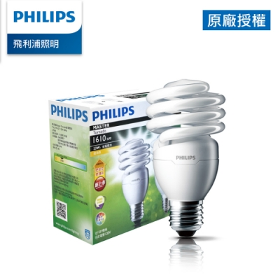 (2入) Philips 飛利浦 23W 螺旋省電燈泡-黄光2700K (PR918)