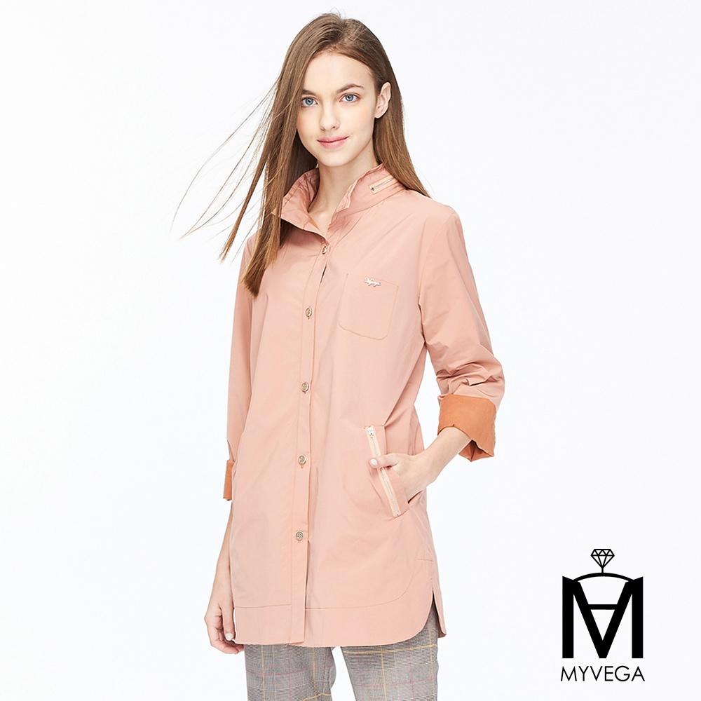 【麥雪爾】MA不易皺微光澤排釦外套