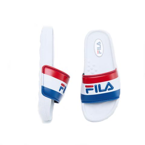 FILA KIDS 大童CPU運動拖鞋-白藍紅 3-S419V-321