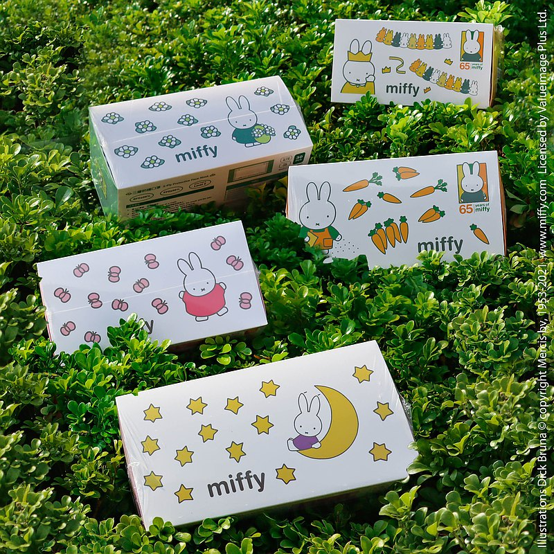Miffy 特別版口罩套裝   成人版 三層防護   每盒30個裝(獨立包裝