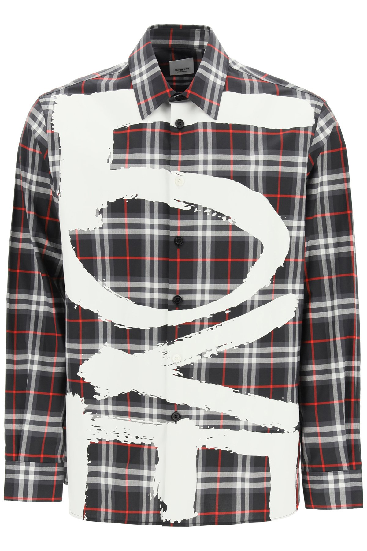 Burberry tavington vintage check shirt love print