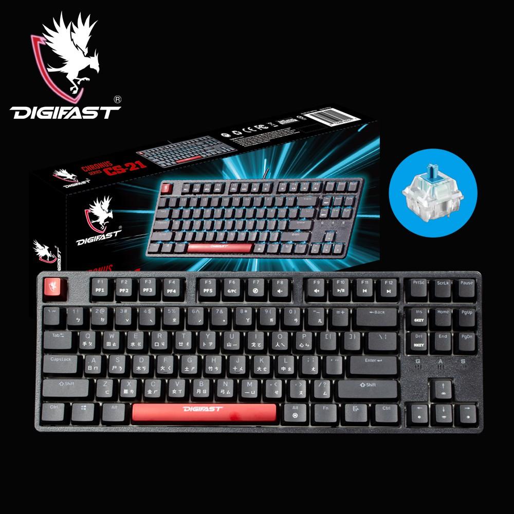 DIGIFAST 迅華 TKL 80% RGB機械電競鍵盤CS-21(中文/青軸版)