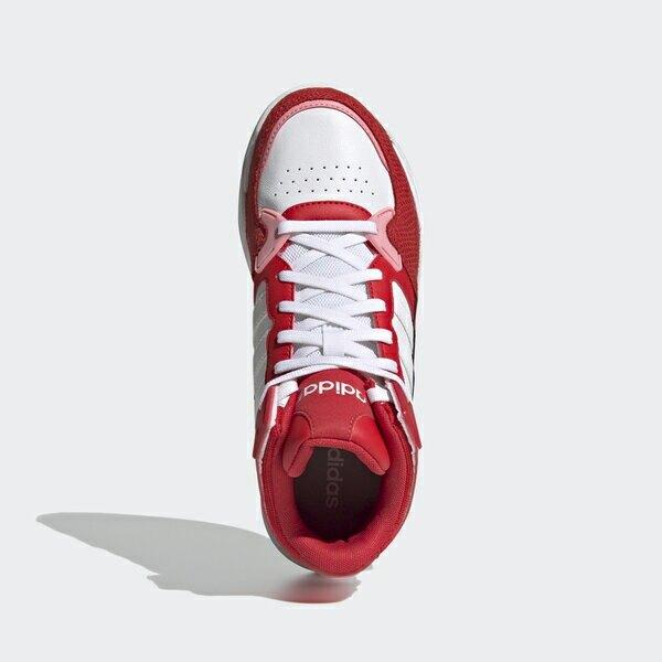 Adidas Neo 5th Quarter [FY6641] 女鞋 運動 休閒 復古 高筒 皮革 拼接 愛迪達 白 紅
