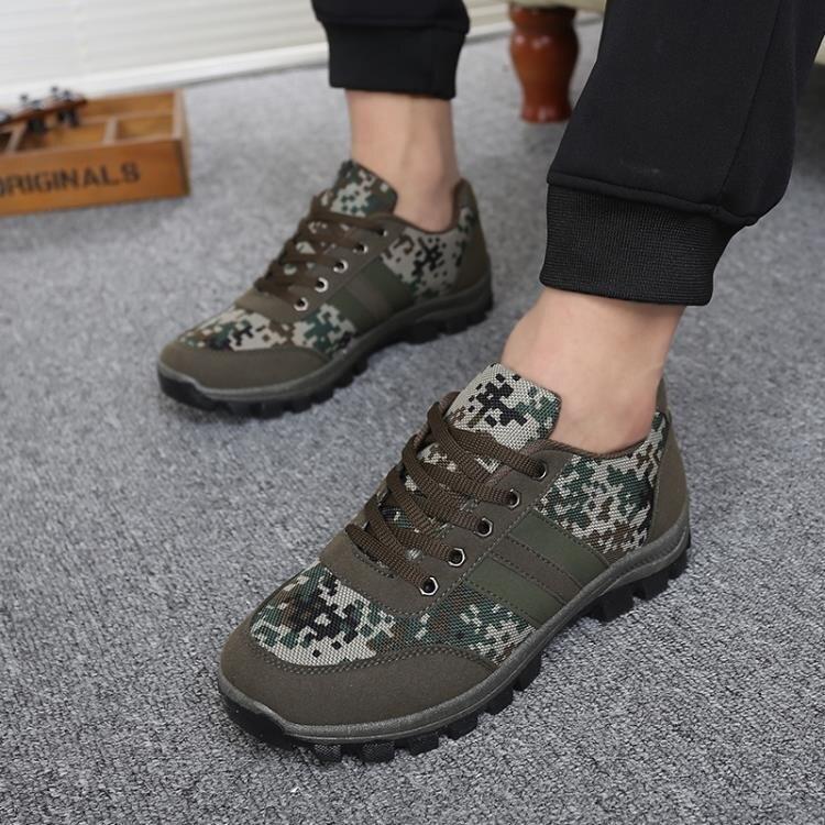 戶外越野跑鞋輕便迷彩訓練軍鞋徒步鞋旅游透氣登山鞋勞保秋季男鞋