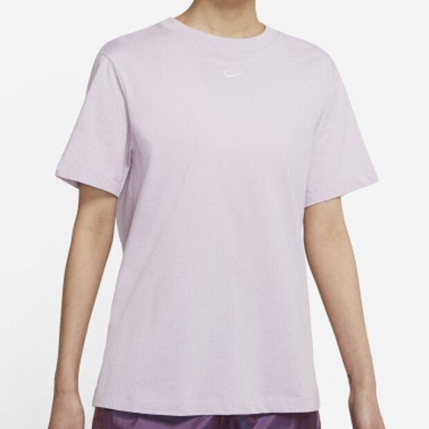 【現貨】NIKE SPORTSWEAR 女裝 短袖 純棉 寬版 休閒 刺繡小勾 紫【運動世界】DH4256-576