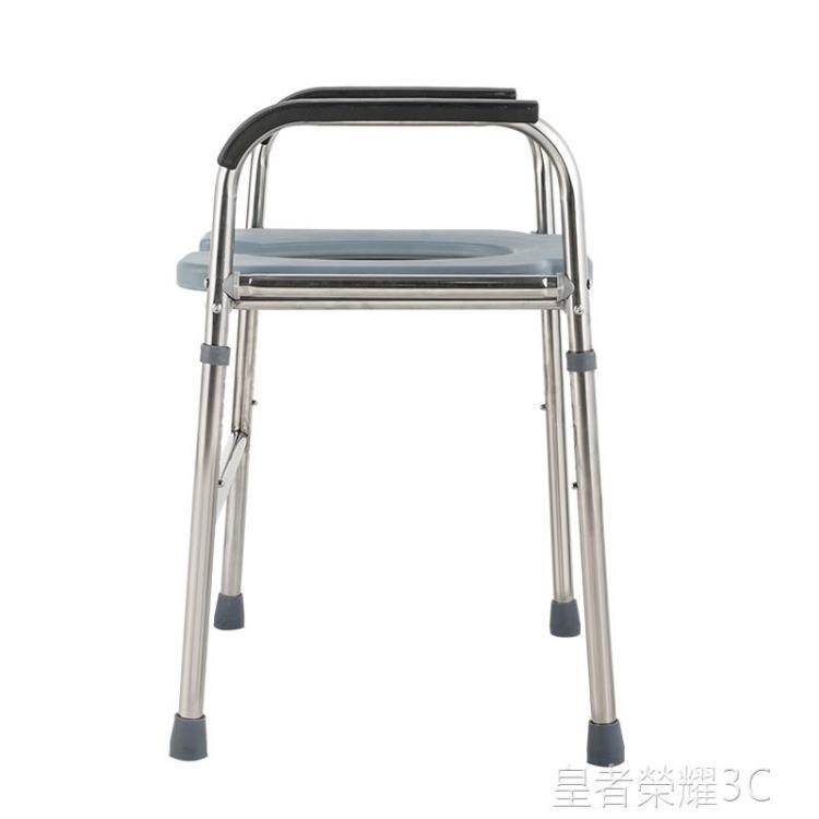 移動馬桶 不銹鋼加粗孕婦坐便椅子坐便器凳移動馬桶增高坐便架子 2021新款