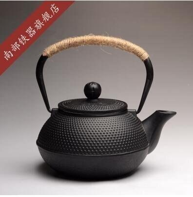 樂天優選 鐵壺日本南部銅蓋黑點鑄鐵壺無塗層生鐵壺老鐵壺燒水鐵茶壺(0.9L容量黑點單壺)