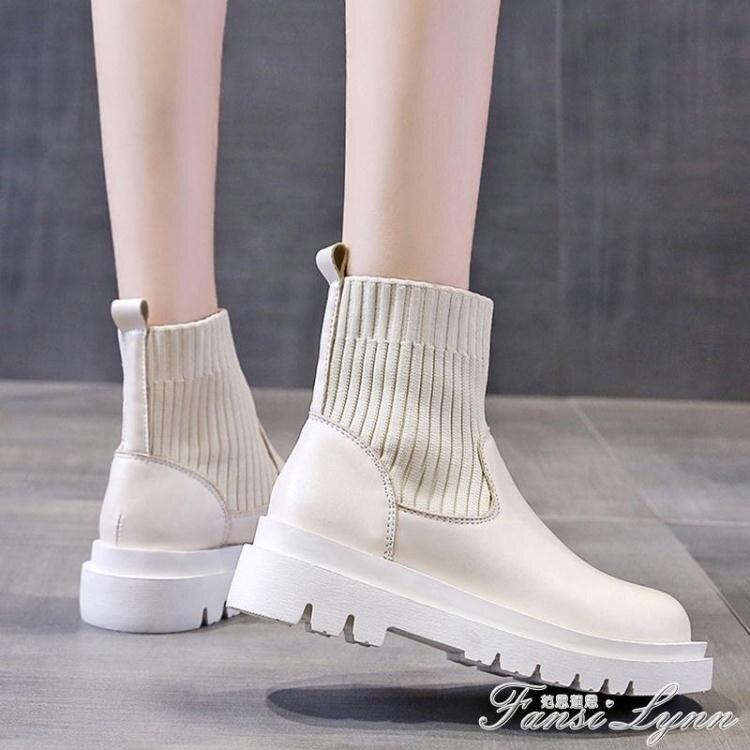 網紅瘦瘦鞋馬丁靴女潮ins英倫風春秋單靴夏季薄款透氣厚底短靴子