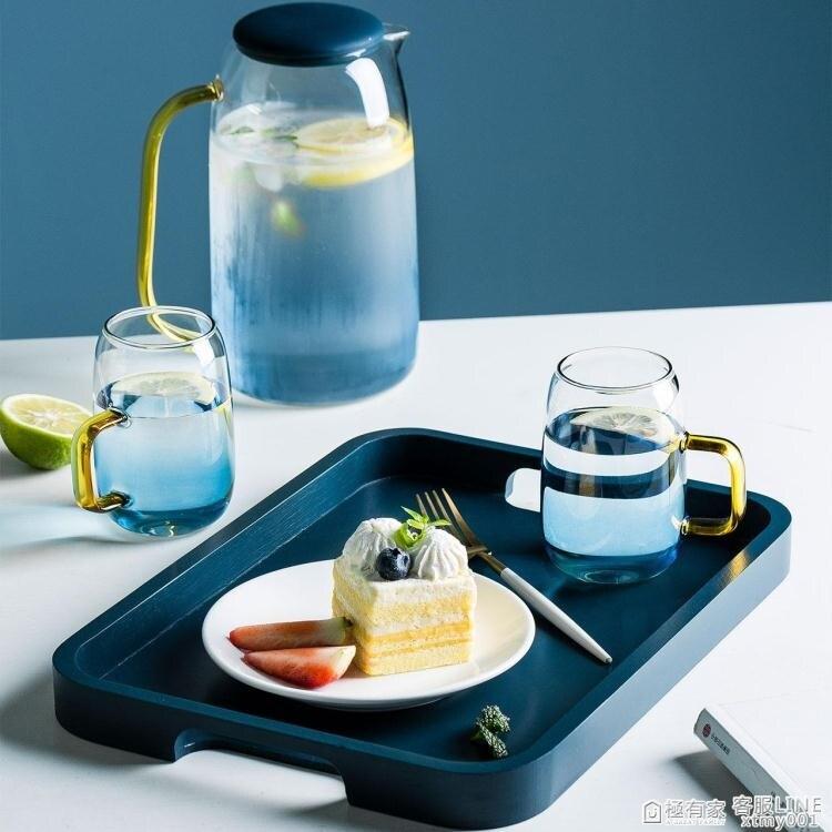 摩登主婦北歐托盤長方形竹木質茶盤家用茶幾放茶杯子水果零食盤子