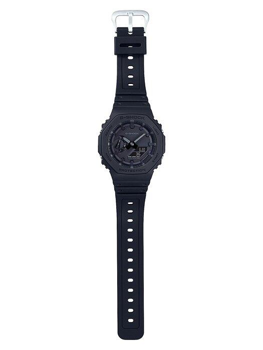 CASIO卡西歐G-SHOCK GA-2100-1A1 超人氣農家橡樹八角形錶殼設計 黑X黑