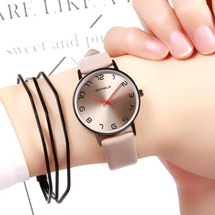 樂天優選 手錶女學生ins原宿風防水高中生小錶盤超薄男錶個性時尚潮電子錶