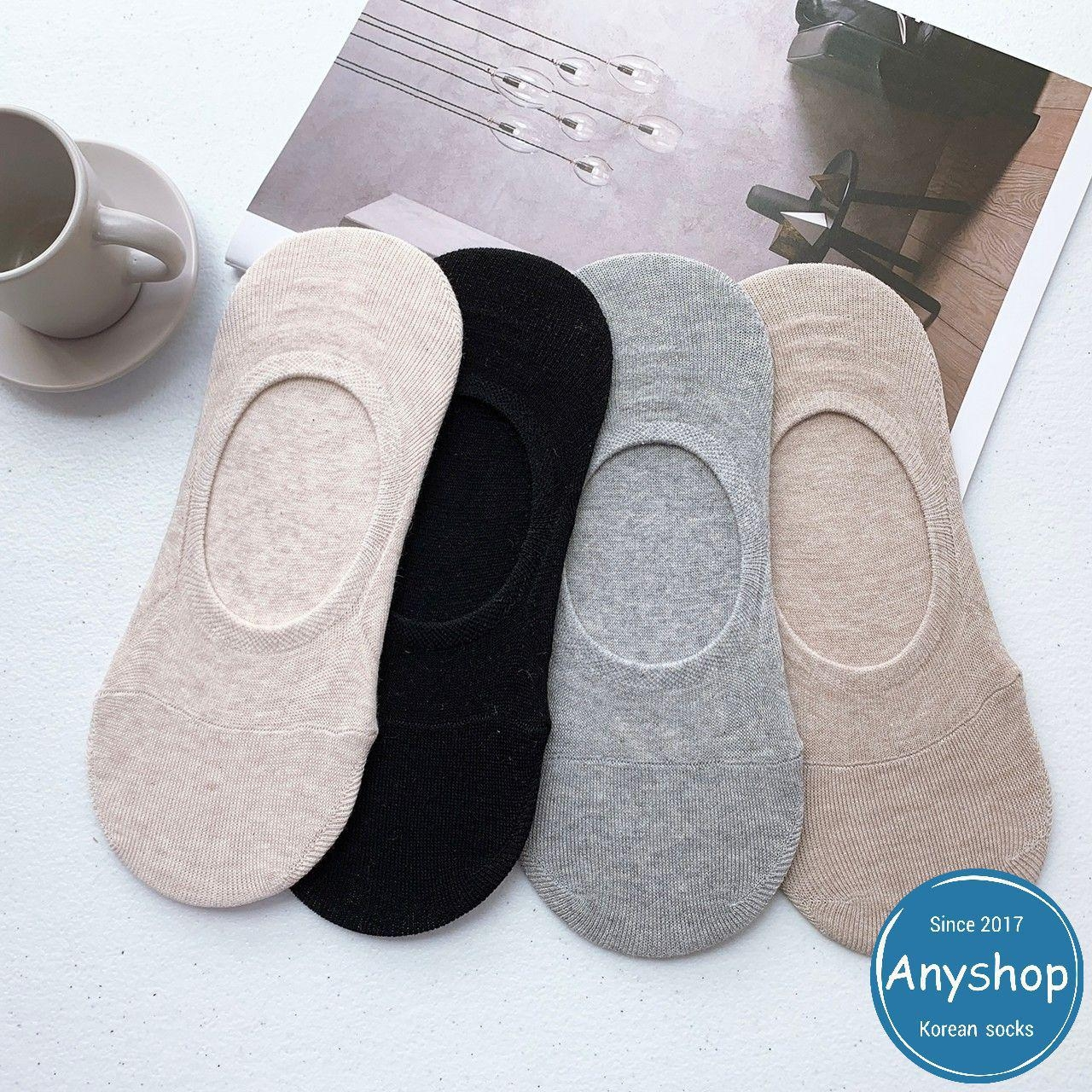 韓國襪-[Anyshop]素色無痕船型男襪
