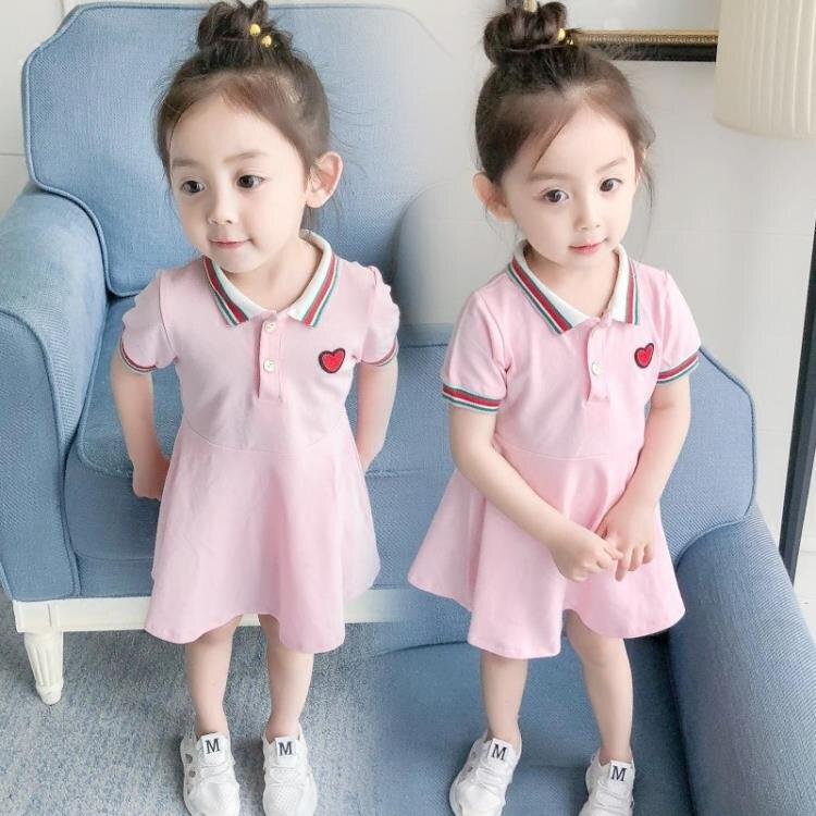 樂天優選 女寶寶洋裝夏裝 新款童裝女童短袖公主裙嬰兒裙子1-2-3-4歲