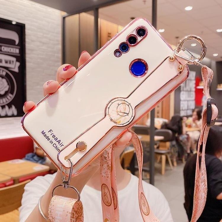 樂天優選 新品特價 華為nova4手機殼nova4e全包電鍍vce-al00/mar-tl00斜跨女款保護套