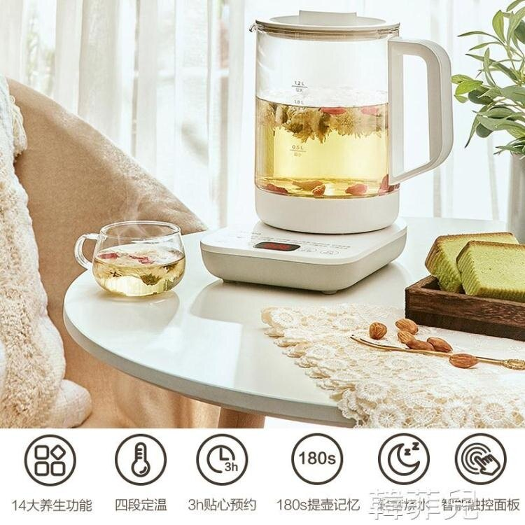 養生壺 美的養生壺辦公室小型玻璃花茶壺家用中藥煎藥壺養身多功能煮茶器 2021新款