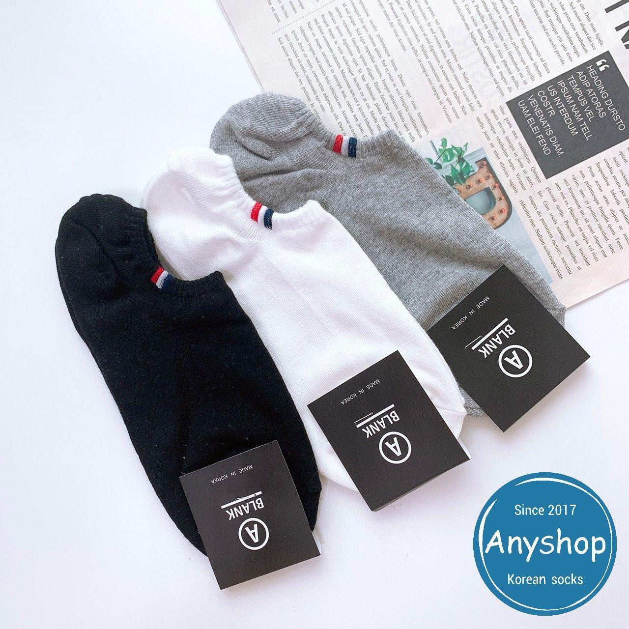 韓國襪-[Anyshop]三色男仕極短襪
