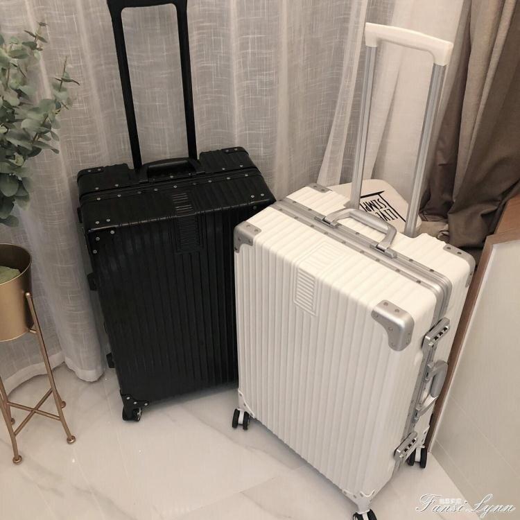 行李箱ins網紅新款拉桿箱鋁框旅行箱萬向輪男女韓版密碼皮箱子潮