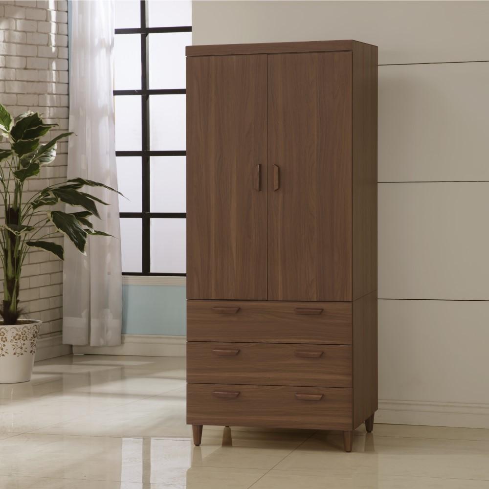 衣櫃 衣櫥 3尺 木紋北歐3X7尺衣櫥 YD米恩居家生活