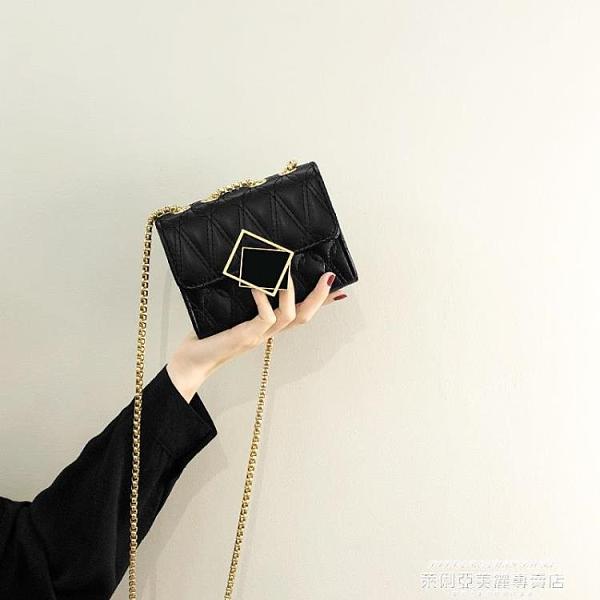 側背小包 今年流行迷你小包包女夏2021新款潮時尚鍊條斜背包網紅百搭小方包 新品