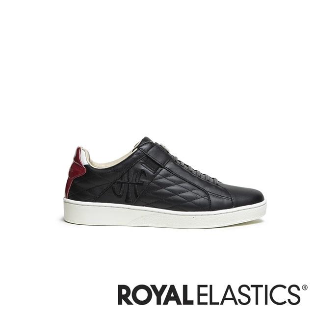 ROYAL ELASTICS ICON LUX 黑紅真皮時尚休閒鞋 (女) 92503-910