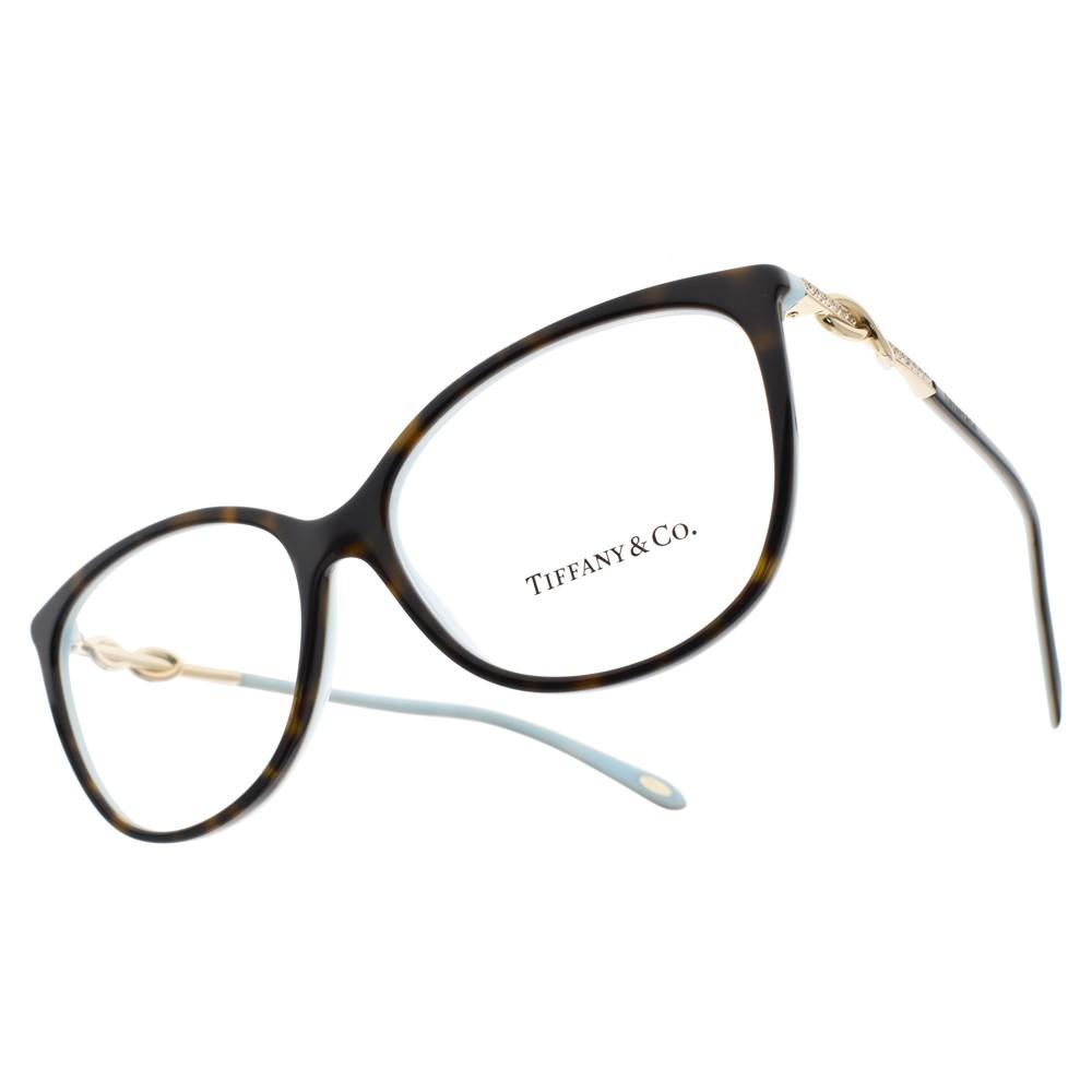 Tiffany&CO. 光學眼鏡 TF2143B 8134 浪漫情結貓眼款 眼鏡 -金橘眼鏡