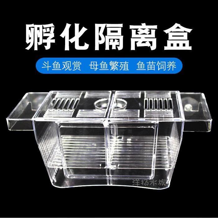 孔雀魚繁殖盒SD23 魚缸隔離盒孵化盒鬥魚熱帶魚小魚幼魚特大號隔離箱產房魚苗產卵器KIM