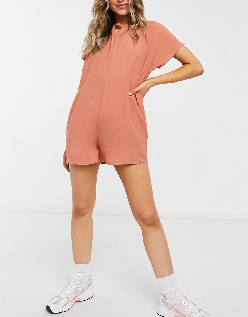 Native Youth playsuit in peach-Orange