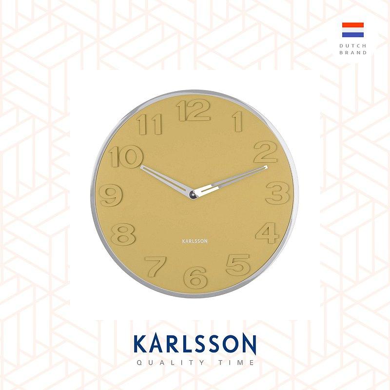荷蘭Karlsson, wall clock New Original numbers yellow 凸數字