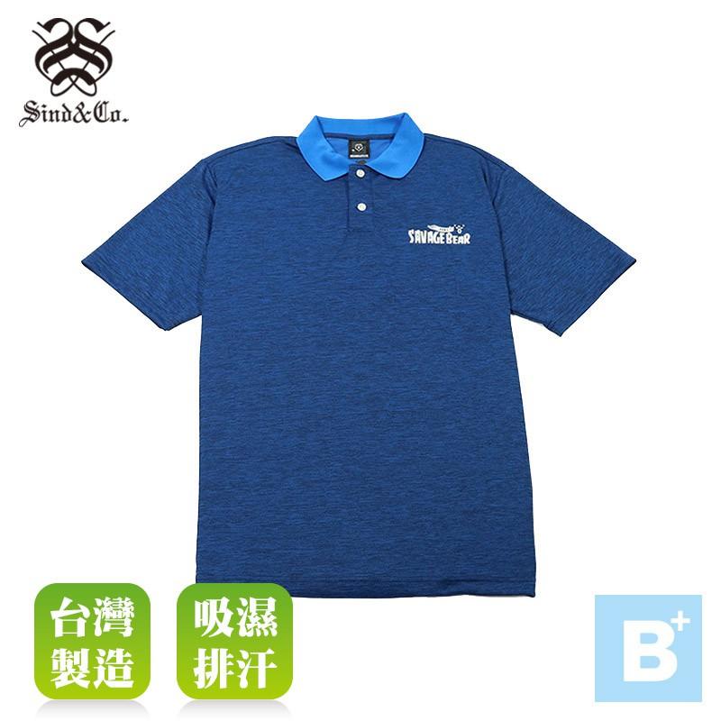 大尺碼-SIND-男款 排汗POLO衫-寶藍-B61664