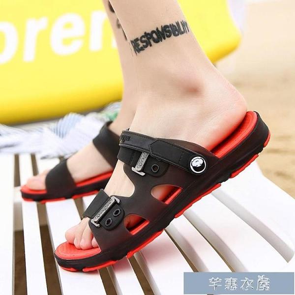 涼鞋男士涼鞋夏季新款個性室外穿涼鞋男潮流韓版沙灘鞋男涼拖鞋男夏季