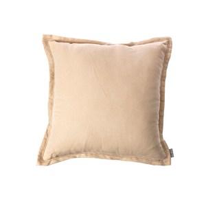 HOLA 素色雅沐仿棉抱枕60x60cm-米杏
