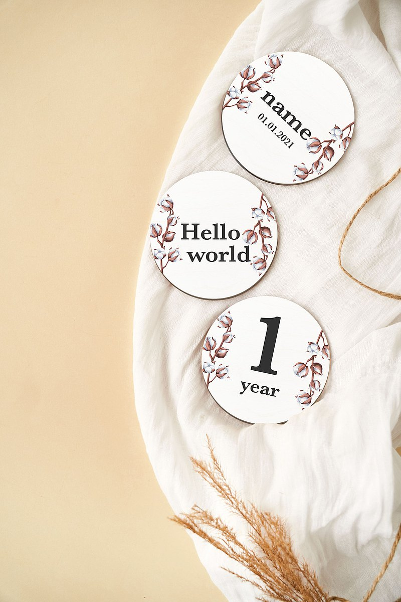 嬰兒每月里程碑 女嬰禮物里程碑卡套裝 新生兒里程碑標記