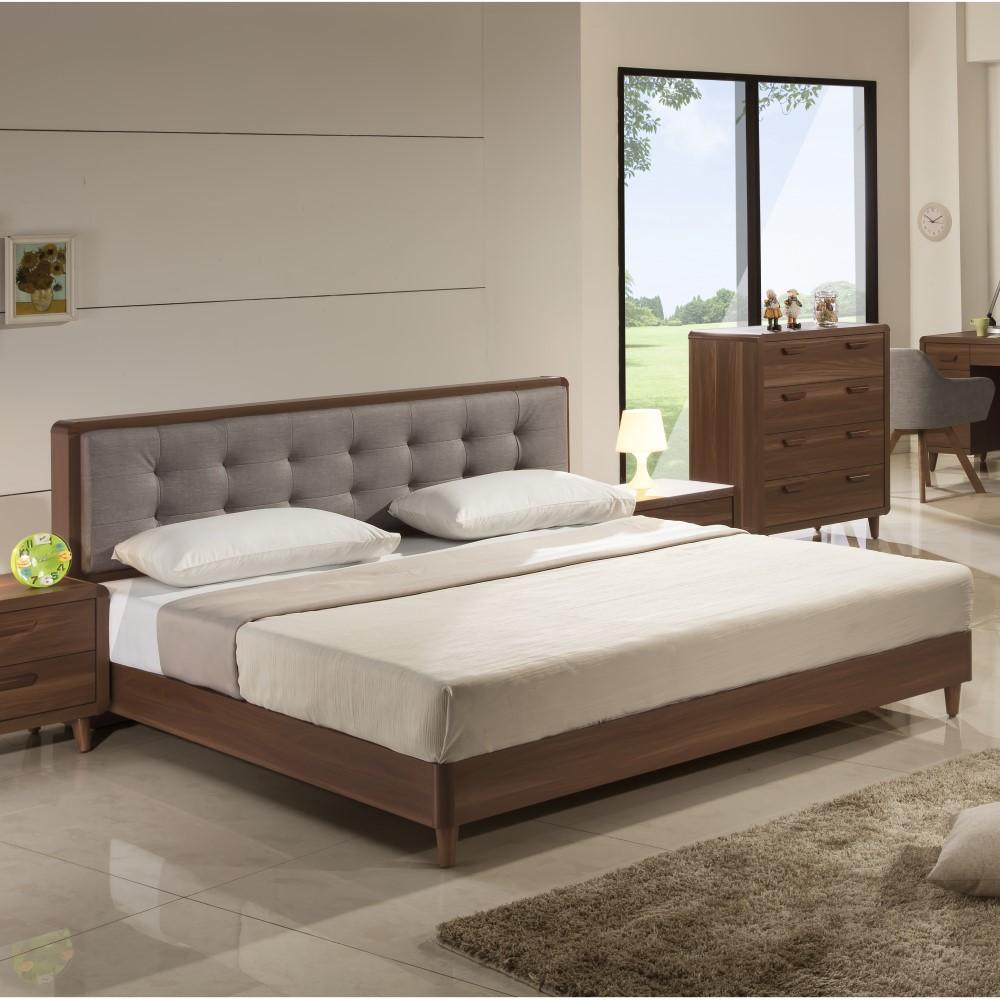 木紋北歐 5尺 6尺 床頭片 床底 有靠枕床頭片 YD米恩居家生活